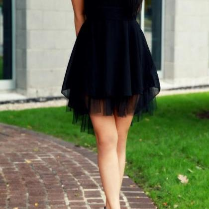 Black Homecoming Dress,Tulle Homeco..