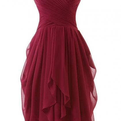 Burgundy Short Bridesmaid Dresses, ..