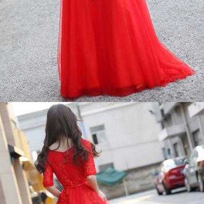 Red Princess Prom Dresses, Prom Gow..