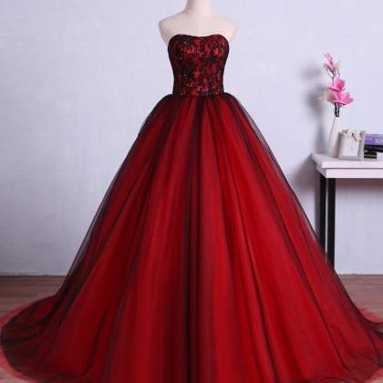 Red and Black Gorgeous Prom Gowns, ..