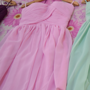 Pink bridesmaid dresses/bridesmaid ..