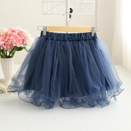 Ruffled Elastic Waistband Short Tul..