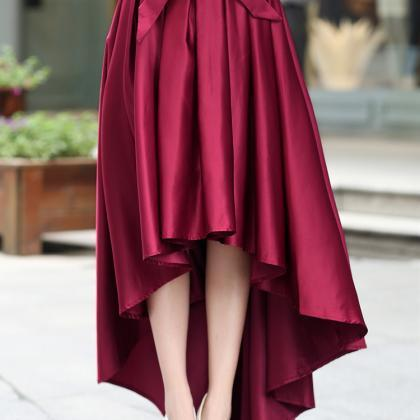 High Quality Pretty Burgundy High L..