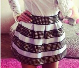 Cool White and Black..
