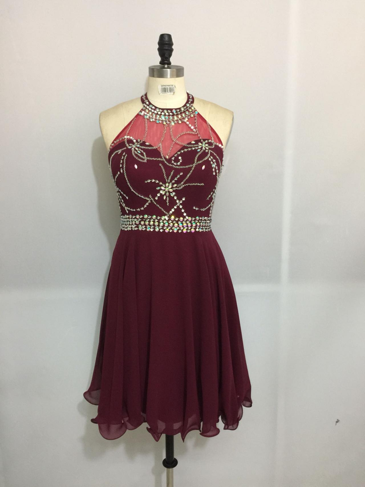 Maroon Short Formal Dresses