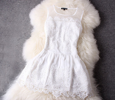 New Style White Lace Graduation Dresses, Short White Women Dresses, Lovely Lace Dresses