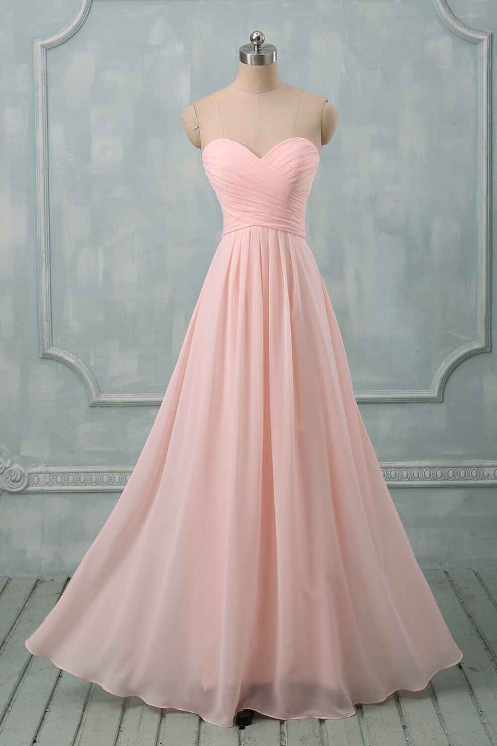 84c4ffd015f Simple Pink Bridesmaid Dresses