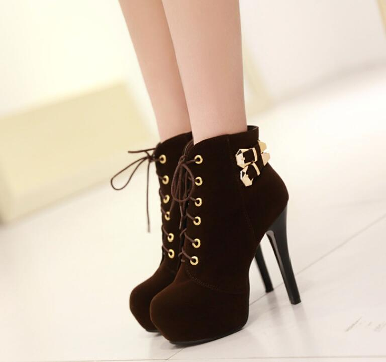 80c60e2f6f8 Charming Brown Autumn/Winter Women High Heels, New Style Women Shoes, High  Heels