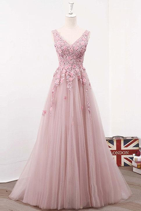 d8d8f0669a9 Pink Tulle Party Dresses
