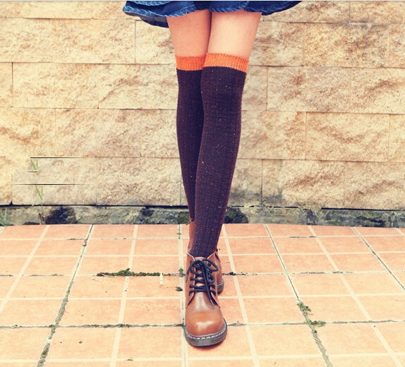 Long Wool Knit Chic Socks, Warm Socks, Pretty Super Cute Socks