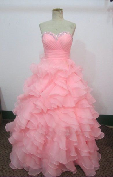High Quality Handmade Pink Ball Gown Prom Dresses 2015, Pink Prom Dresses, Ball Gown Formal Dresses,Evening Dresses, Party Dresses