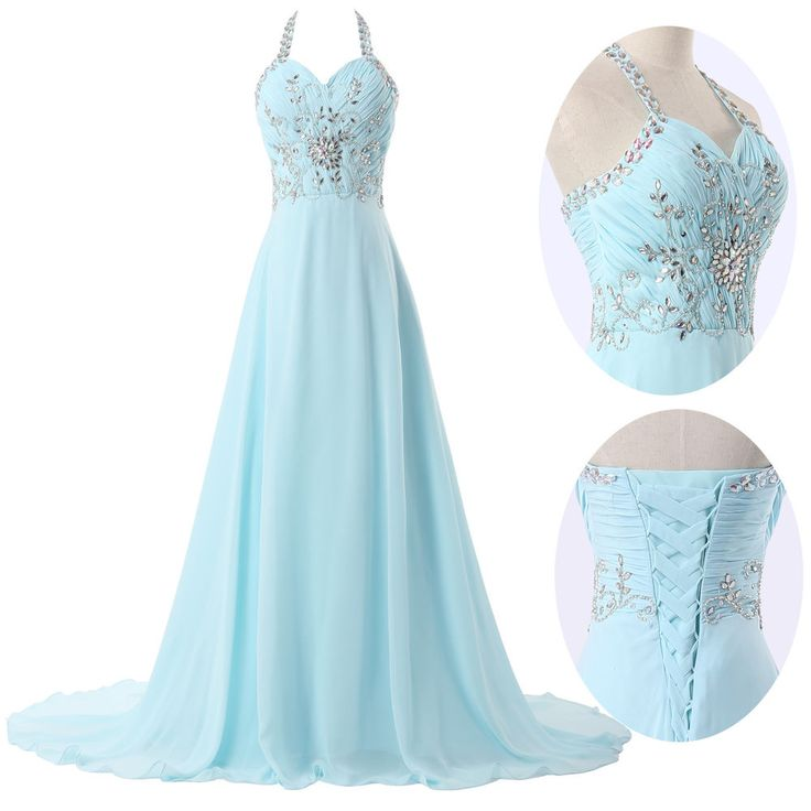 Pretty Blue Ball Gown Dresses