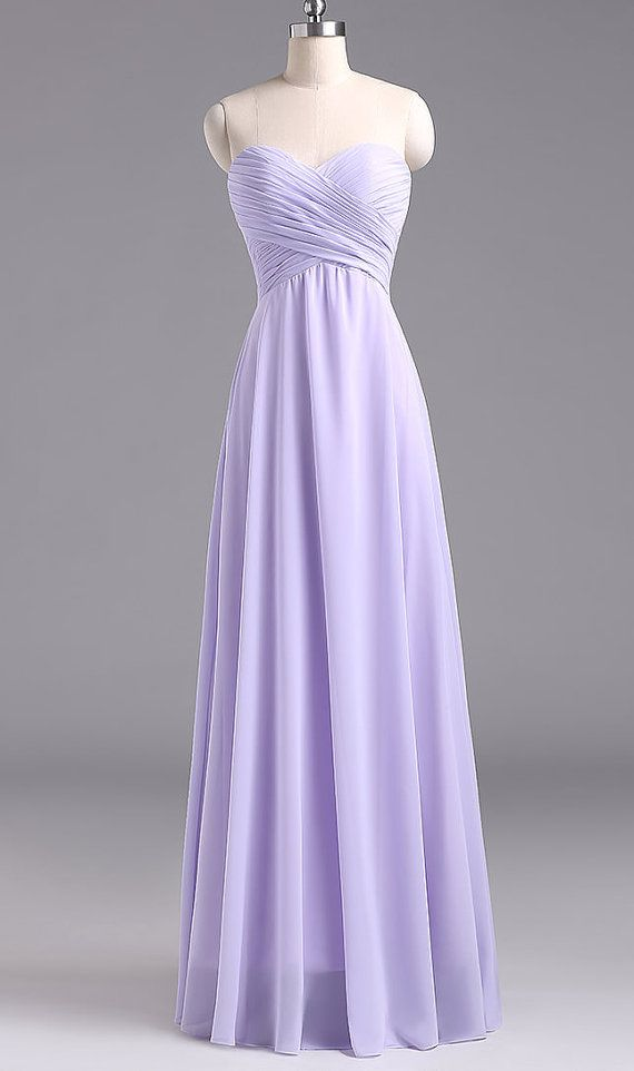 Simple Long Lavender Prom Dress Lavender Bridesmaid Dresses ...