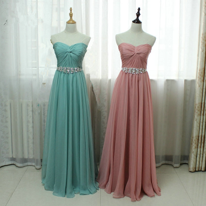Charming Sweetheart Long Simple Lace-up Prom Dresses, Prom Dresses ...