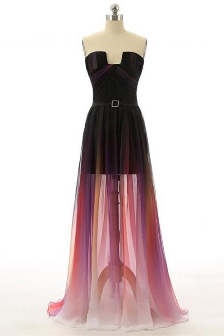 Lovely Gradient High Low Homecoming Dresses, Gradient Party Dresses, New Style Prom Dresses