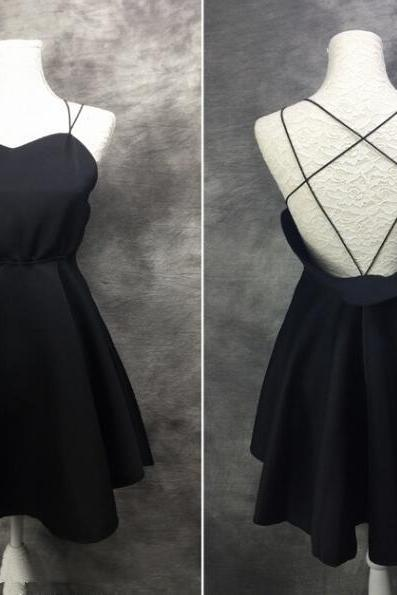 Cute and Sexy Short Teen Dresses, Cross Back Short Women Dresses, Lovely Short Party Dresses