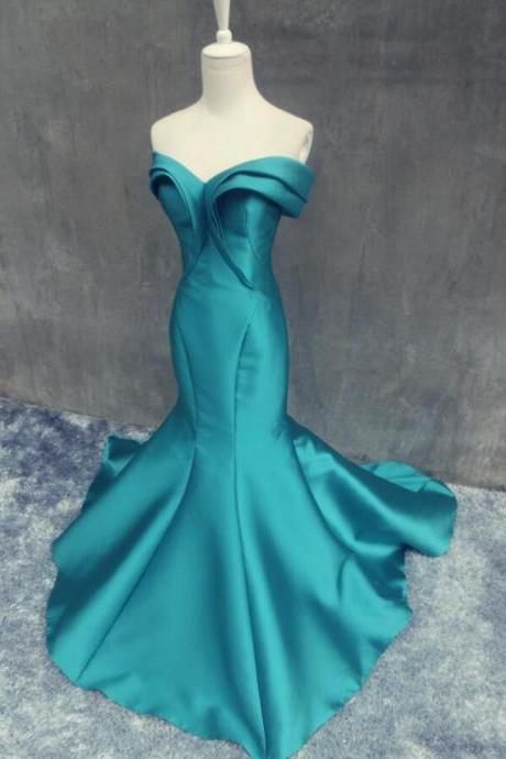 Mermaid Pretty Satin Prom Dresses Sweetheart neck Floor Length Prom Gowns, Beautiful Evening Dresses, Prom Dresses 2018