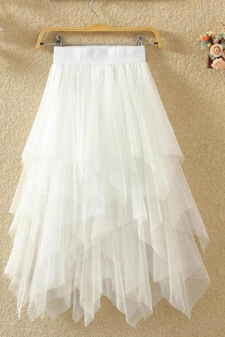 Layered Tulle Skirts, Black Cute Skirts, White Women Skirts, Lovely Skirts