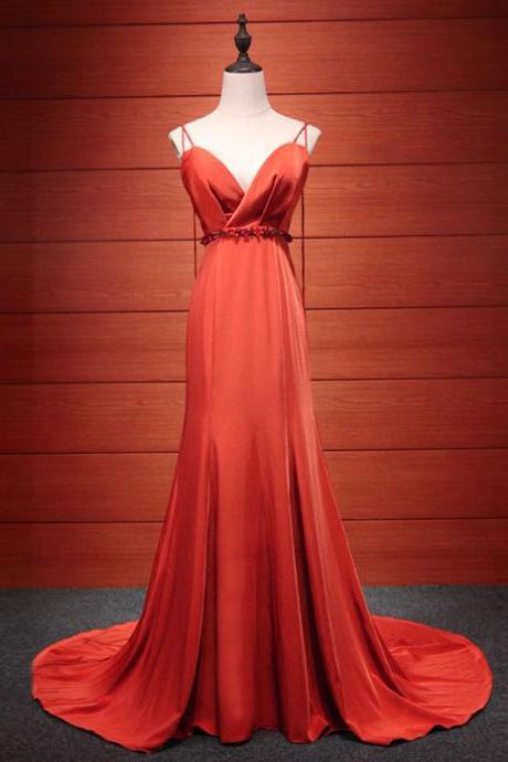 Red Long Formal Dress 2018, Red Party Dresses, Formal Dresses