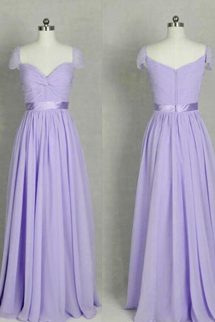 Beautiful Simple Chiffon Long Light Purple Prom Dress, Long Party Dress, Evening Gowns