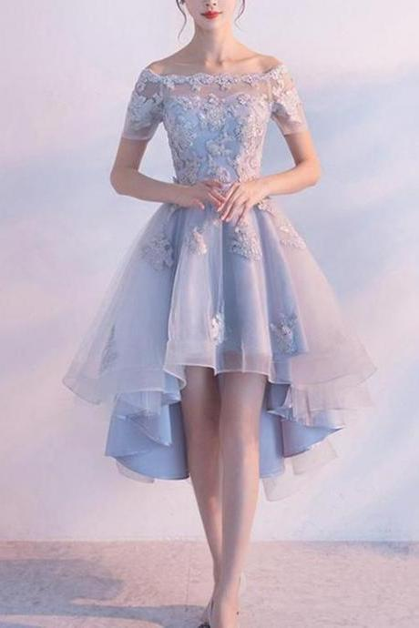 Grey Lovely Tulle Homecoming Dresses, Formal Dresses, Cute Party Dress 2019