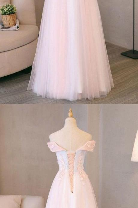 Pink and Light Blue Sweetheart Tulle Prom Dress 2019, Charming Formal Gown 2019, Party Dress 2019