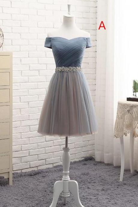Cute Tulle Sweetheart Formal Dress with Belt, Tulle Prom Dress