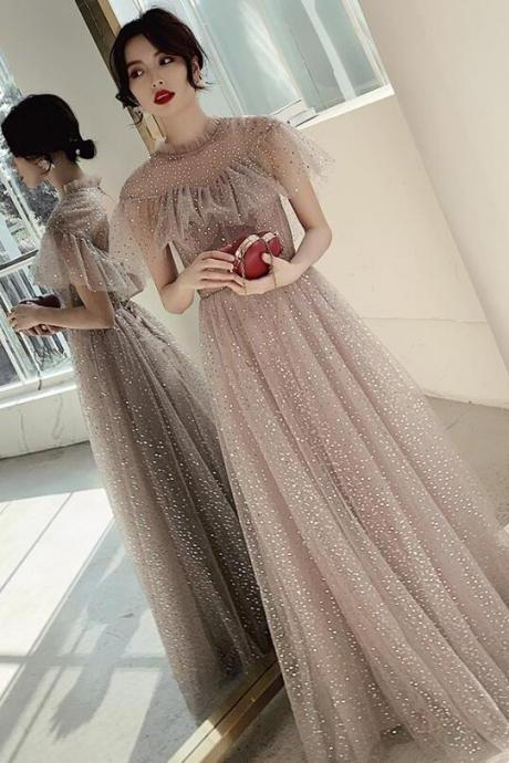 Lovely Sequins New Style Long Prom Dress 2020, Wedding Party Dress