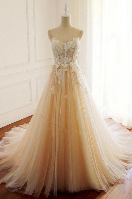 High Quality Tulle Long Formal Dress, Prom Dress 2020