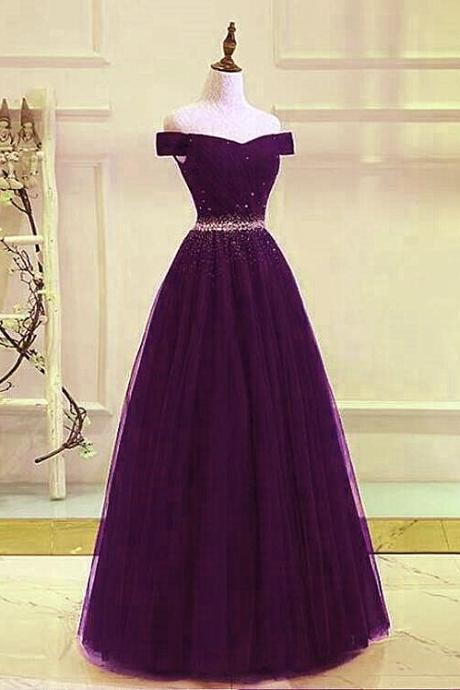 Lovely Beaded Tulle Sweetheart Party Dress, Prom Gown 2020