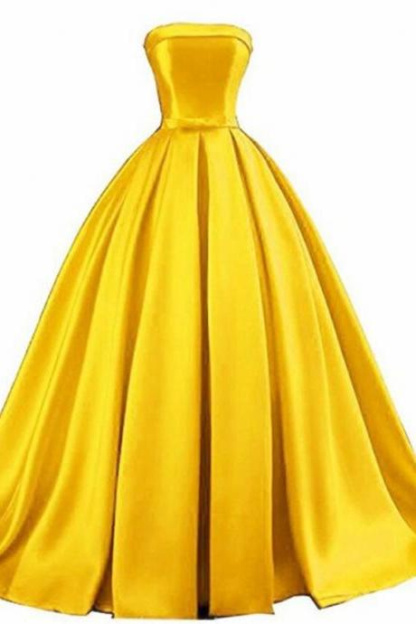 Beautiful Satin Floor Length Party Dress, New Prom Gown 2020
