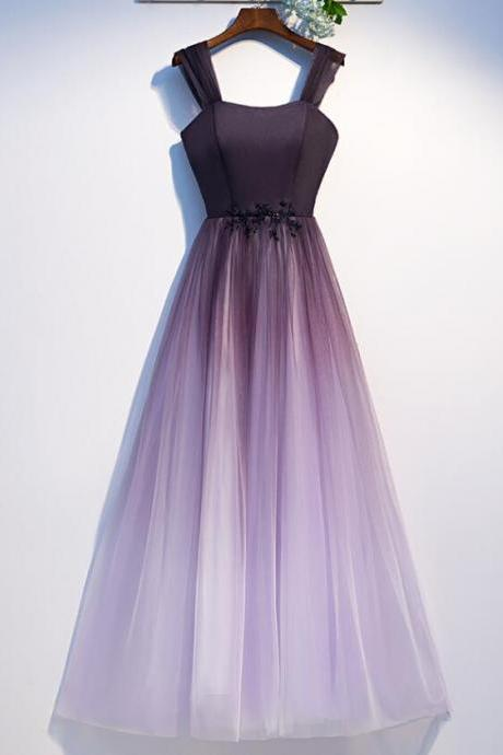 Beautiful Gradient Tulle Long Formal Dress, A-line Party Gown 2020