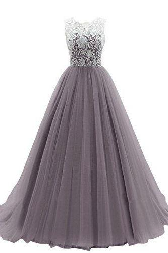 Gorgeous Tulle and Lace Ball Gown Formal Dresses, Floor Length Prom Dresses, Sweet 16 Party Dresses