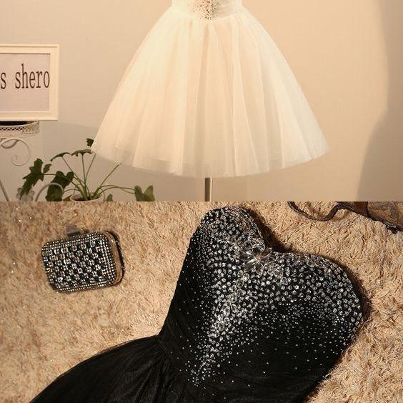 Sweetheart Shinny Tulle Prom Dresses, Homecoming Dresses, Teen Formal Dresses, Cocktail Dresses 2018