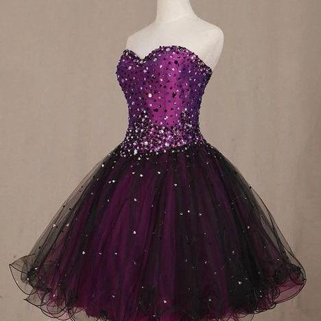 Cute Ball Short Party Dress, Sweetheart Beaded Lovely Dresses, Cute Party Dresses