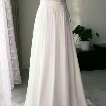 Beautiful Chiffon Long Simple Cute Party Dress, Prom Dresses, Formal Gowns