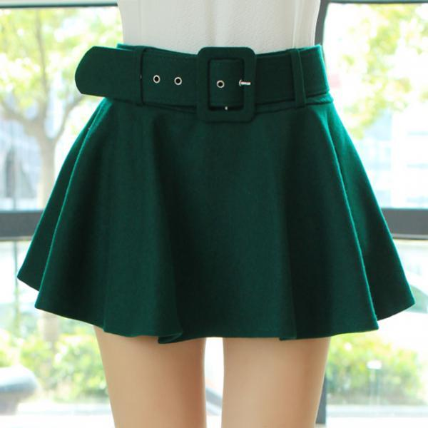 Pretty Green Woolen Stylish and Cute Mini Skirts, Lovely Skirts, Women Skirts, Skirts 2015