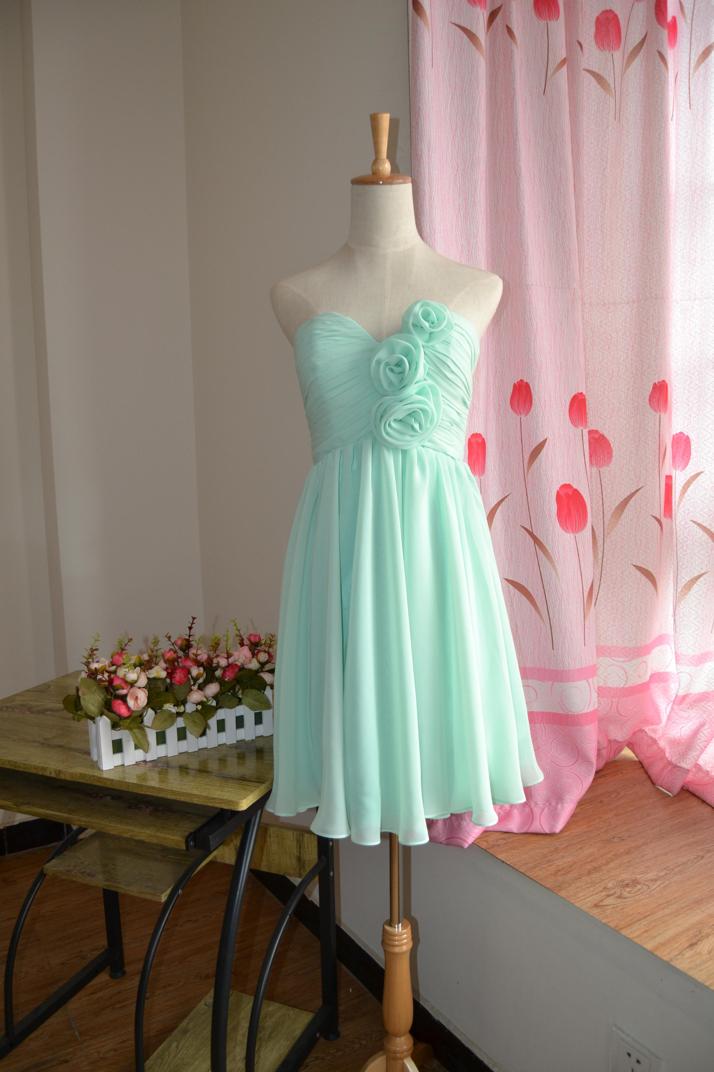 Knee Length Bridesmaid Dresses /mismatch Mix Match /MINT Green ...